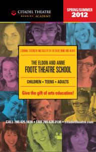 Foote Theatre School 2012