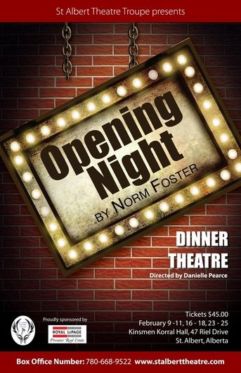 Opening Night by Norm Foster - St. Albert Theatre Troupe