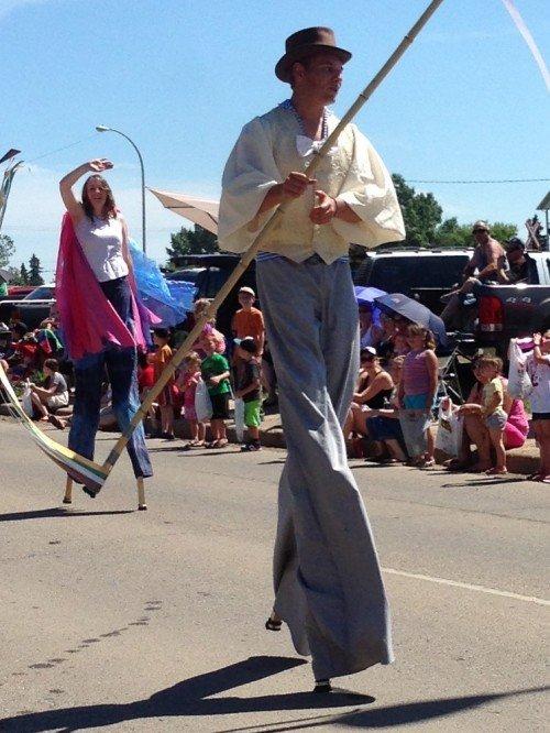 GP Century Play Stilt Walkers, Canada Day 2013