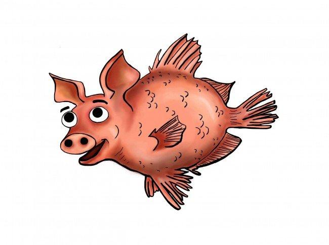 """""""PigFish"""" -  Cochons dans un Canot"""