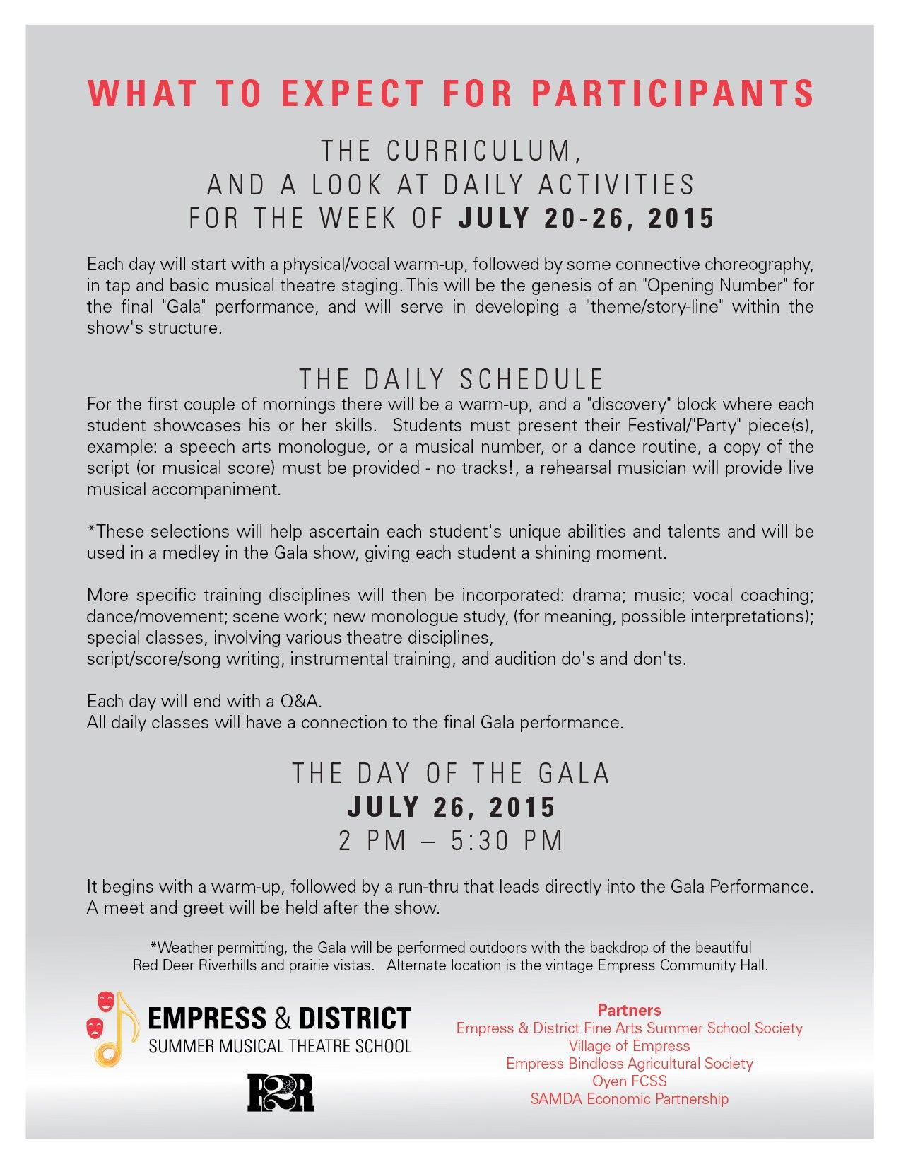 Camp (Empress): Empress Summer Musical Theatre School