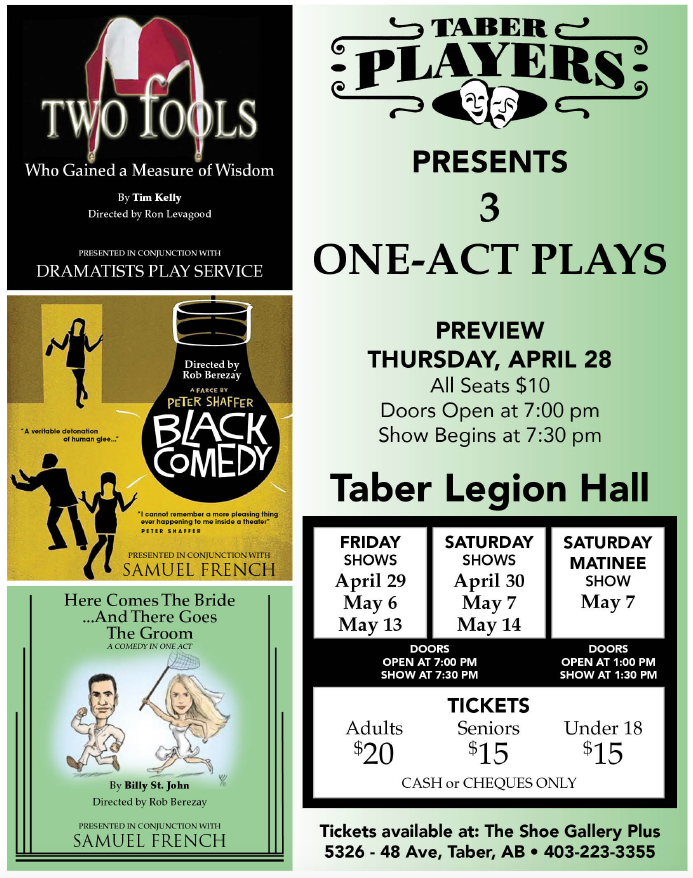 Tabor Players - Three One Act Plays