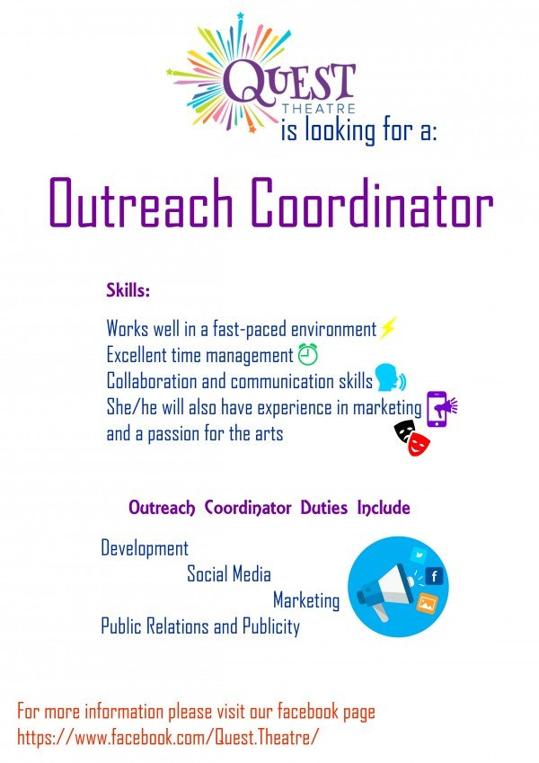 Job Calgary Outreach Coordinator  Quest Theatre  Theatre Alberta