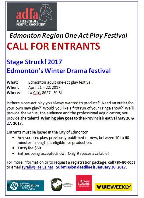 Entrants, Stage Struck! 2017