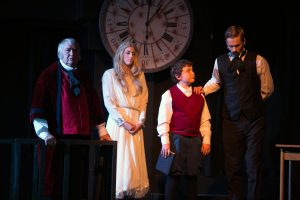 Four Actors In Production of A Christmas Carol