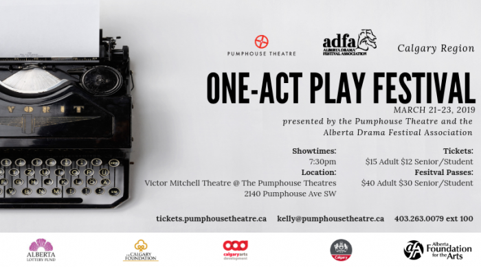 What's On (Calgary): Calgary Region One-Act Play Festival