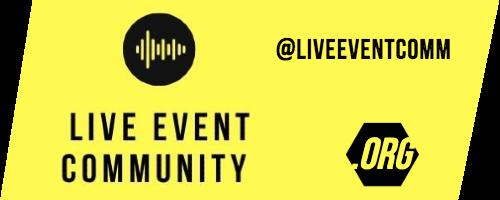 live event community header