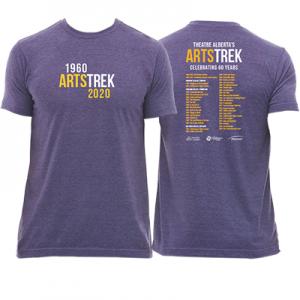 Purple Artstrek Anniversay tShirts that Read 1960 Artstrek 2020