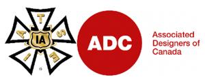 IATSE and Associated Desingers of Canada logos