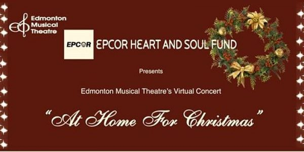 Christmas wreath on brown backgroud [Epcor Heart and Soul Fund presents Edmonton Musical Theatre's Virtual Concert - At Home for Christmas