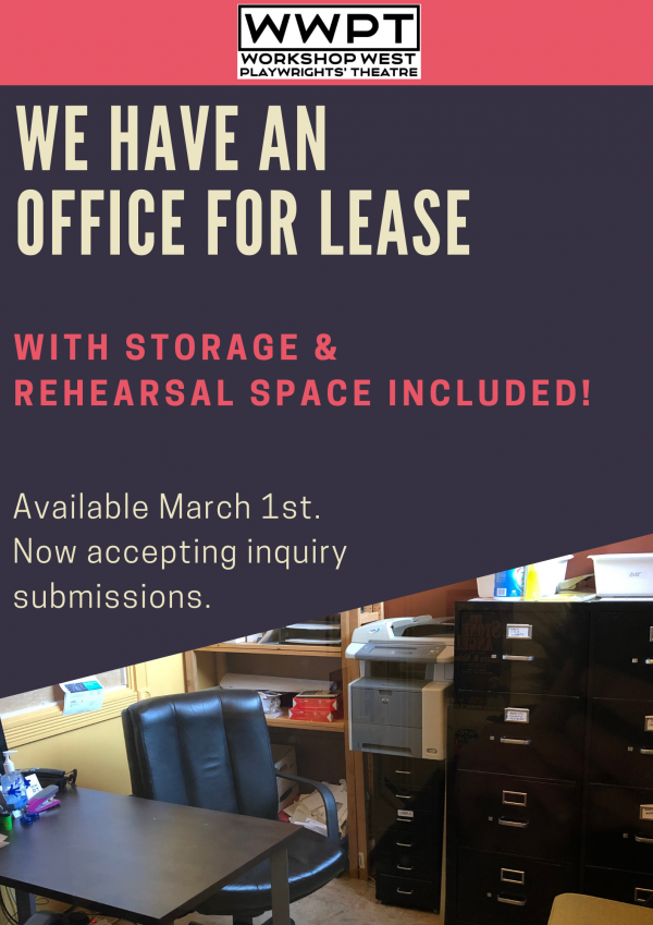 Office for lease. Available March 1st. Now accepting inquiry submissions.