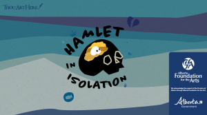 Thou Are Here Hamlet In Isolation - Graphic of Black Skill with Smaller White Skull Sitting Inside Its Yellow Brain