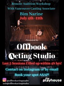 Offbook Acting Studio Taped Audition Workshop