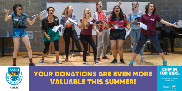 Chip In For Kids Image Of Eight Artstrek Kids Performing Text Reads Your Donations Are Even More Valuable This Summer