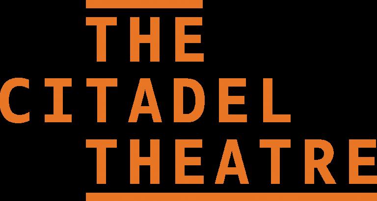 The Citadel theatre logo in orange font