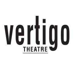 Black and white logo for Vertigo Theatre