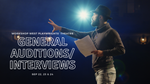 Workshop West Playwrights' Theatre General Auditions/Interviews