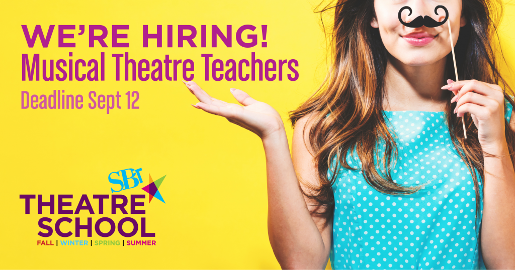 StoryBook Theatre is hiring musical theatre teachers!