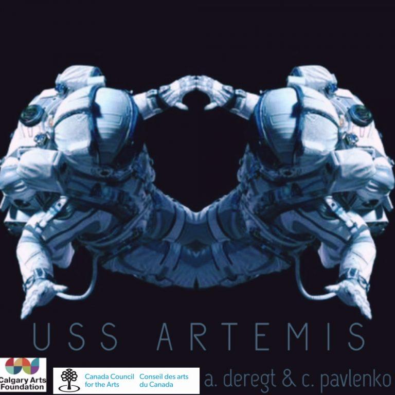 Image of an astronaut - mirrored. USS Artemis