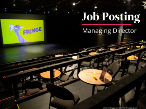 Image of small empty theatre - text: Job posting-Managing Director